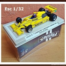 Slot Cars: FLY SLOT 058102 - LOTUS 78 GP AURORA 1979 EMILIO VILLOTA. Lote 92163990