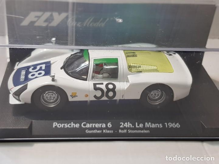 COCHE SLOT FLY PORSCHE CARRERA 6-24H.LE MANS 1966 EN BLISTER MADE IN SPAIN (Juguetes - Slot Cars - Fly)