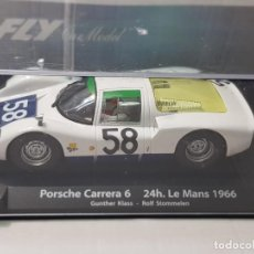 Slot Cars: COCHE SLOT FLY PORSCHE CARRERA 6-24H.LE MANS 1966 EN BLISTER MADE IN SPAIN. Lote 219516087