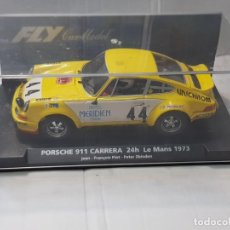 Slot Cars: COCHE SLOT FLY PORSCHE 911 CARRERA -24H.LE MANS 1973 EN BLISTER MADE IN SPAIN. Lote 219518138