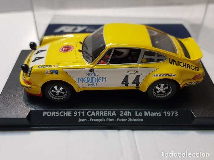 Slot Cars: Coche Slot Fly Porsche 911 Carrera -24h.Le Mans 1973 en blister made IN Spain - Foto 2 - 219518138
