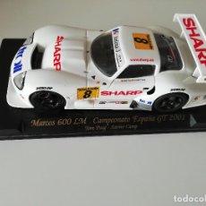 Slot Cars: MARCOS LM 600 CAMPEONATO DE ESPAÑA GT 2001 - EDICIÓN LIMITADA. Lote 220573786