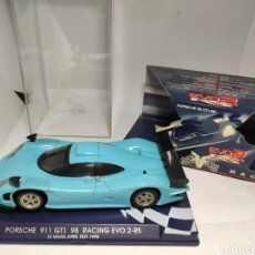 Slot Cars: FLY PORSCHE 911 GT1 98 RACING EVO2 RS AZUL REF. 07012. Lote 221609770