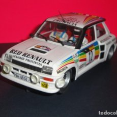 Slot Cars: RENAULT 5 TURBO CARLOS SAINZ RED RENAULT MADRID. FLY. Lote 222074466