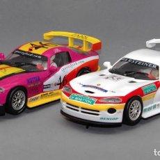 Slot Cars: LOTE 2 X DODGE/CHRYSLER VIPER GTS R (FLY CAR MODEL). Lote 222648601