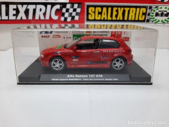 ALFA ROMEO 147 GTA FLY ( EDICIÓN ESPECIAL MADRIDIARIO) SALON AUTOMOVIL MADRID 2004 SCALEXTRIC NUEVO! (Juguetes - Slot Cars - Fly)