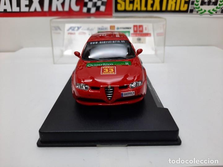 Slot Cars: ALFA ROMEO 147 GTA FLY ( Edición Especial Madridiario) SALON AUTOMOVIL MADRID 2004 SCALEXTRIC NUEVO! - Foto 4 - 222817490