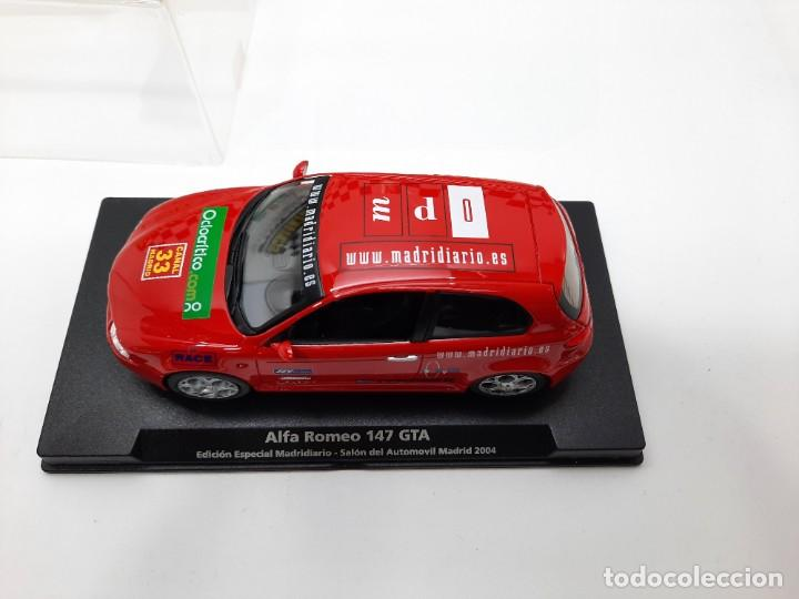 Slot Cars: ALFA ROMEO 147 GTA FLY ( Edición Especial Madridiario) SALON AUTOMOVIL MADRID 2004 SCALEXTRIC NUEVO! - Foto 5 - 222817490