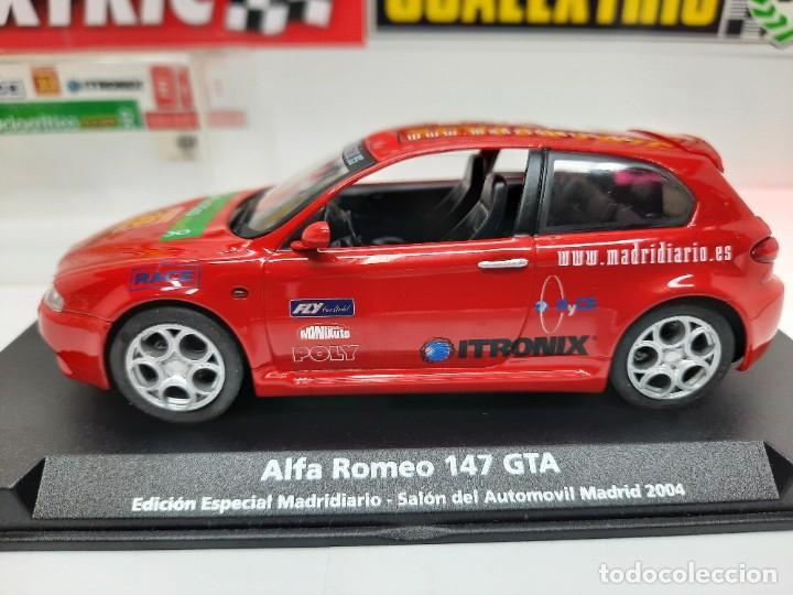 Slot Cars: ALFA ROMEO 147 GTA FLY ( Edición Especial Madridiario) SALON AUTOMOVIL MADRID 2004 SCALEXTRIC NUEVO! - Foto 9 - 222817490