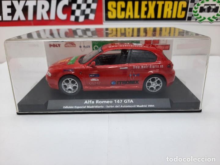 Slot Cars: ALFA ROMEO 147 GTA FLY ( Edición Especial Madridiario) SALON AUTOMOVIL MADRID 2004 SCALEXTRIC NUEVO! - Foto 11 - 222817490