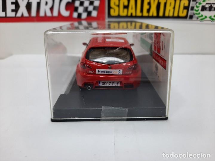 Slot Cars: ALFA ROMEO 147 GTA FLY ( Edición Especial Madridiario) SALON AUTOMOVIL MADRID 2004 SCALEXTRIC NUEVO! - Foto 12 - 222817490