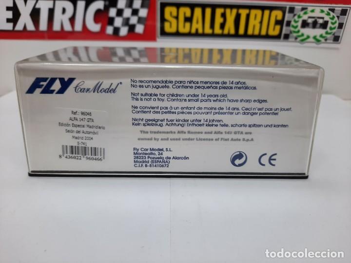 Slot Cars: ALFA ROMEO 147 GTA FLY ( Edición Especial Madridiario) SALON AUTOMOVIL MADRID 2004 SCALEXTRIC NUEVO! - Foto 13 - 222817490