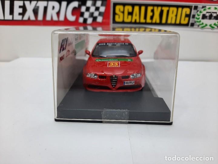 Slot Cars: ALFA ROMEO 147 GTA FLY ( Edición Especial Madridiario) SALON AUTOMOVIL MADRID 2004 SCALEXTRIC NUEVO! - Foto 14 - 222817490