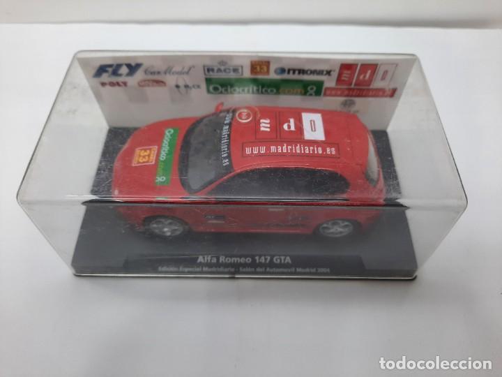 Slot Cars: ALFA ROMEO 147 GTA FLY ( Edición Especial Madridiario) SALON AUTOMOVIL MADRID 2004 SCALEXTRIC NUEVO! - Foto 15 - 222817490