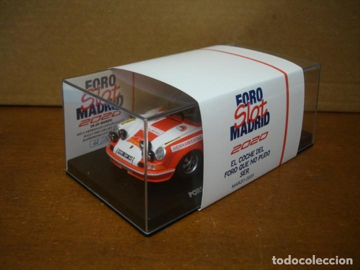 Slot Cars: FLY PORSCHE 911 FOROSLOT MADRID 2020 NUEVO CON SU CAJA ORIGINAL - Foto 7 - 222962211