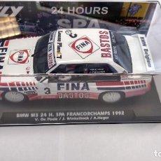 Slot Cars: FLY BMW M3 24H SPA FRANCORCHAMPS 1992, BASTOS FINA ,VÁLIDO SCALEXTRIC. Lote 224054841