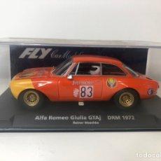 Slot Cars: ALFA ROMEO GIULIA GTAJ DRM 1972 JAGERMAISTER FLY. Lote 224120972