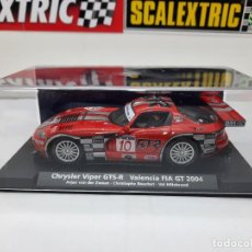 Slot Cars: CHRYSLER VIPER GTS-R VALENCIA FIA GT 2004 #10 FLY SCALEXTRIC. Lote 225556737