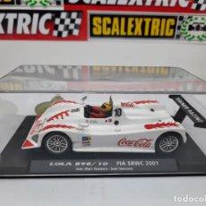 Slot Cars: LOLA B98/10 FIA SRWC 2001 COCA COLA FLY #10 SCALEXTRIC. Lote 226226025
