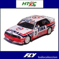 Slot Cars: FLY BMW M3 E30 3 FINA BASTOS SPA FRANCORCHAMPS 1992 WINKELHOCK / HEGER / DE POELE A2023. Lote 228245575