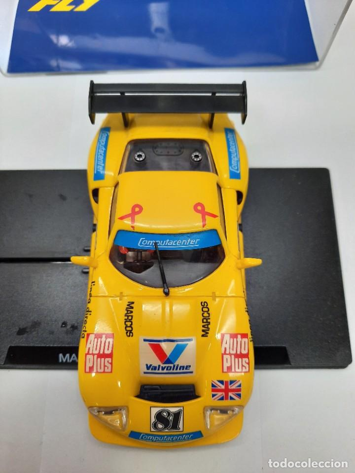 """Slot Cars: MARCOS 600 LE MANS 96 FLY """"Ref 21 AMARILLO"""" SCALEXTRIC - Foto 7 - 232344240"""