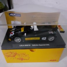 Slot Cars: SCALEXTRIC FLY LOLA B98 ESPECIAL PROMOCION DHL. Lote 232806485
