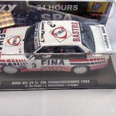 Slot Cars: FLY BMW M3 24H SPA FRANCORCHAMPS 1992, BASTOS FINA ,VÁLIDO SCALEXTRIC. Lote 233457755