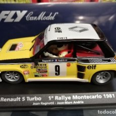 Slot Cars: A-1201 RENAULT 5 TURBO Nº 9 1º RALLY MONTECARLO '81 RAGNOTTI - ANDRIE DE FLY. Lote 236019800
