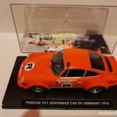 Slot Cars: FLY. SLOTWINGS. PORSCHE 911 ASISTENCIA ACCIDENTE NIKI LAUDA GP ALEMANIA 1976. Lote 236066975