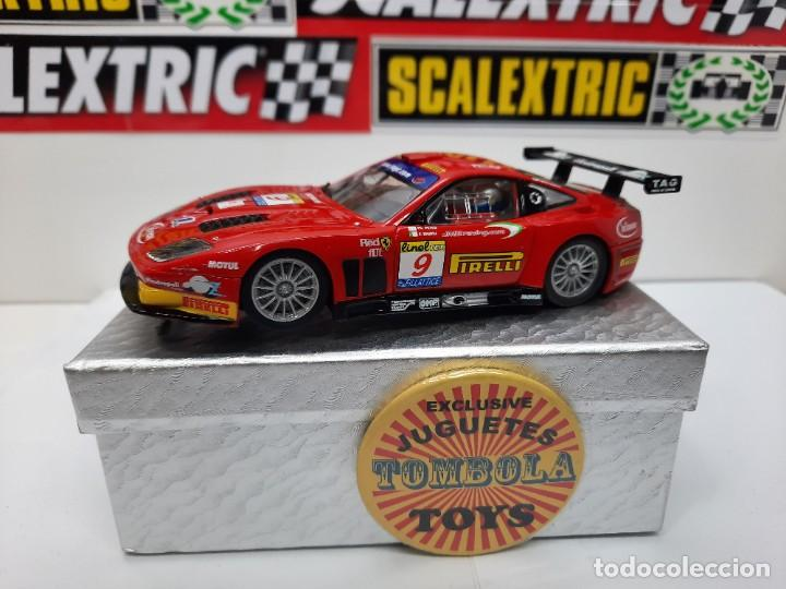 FERRARI 575 MARANELLO #9 SLOT CARRERA EVOLUTION SCALEXTRIC !!! DESCRIPCION... (Juguetes - Slot Cars - Fly)