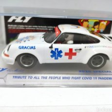 Slot Cars: FLY PORSCHE CARRERA RS TRIBUTE TO ALL THE PEOPLE WHO FIGHT COVID 19 PANDEMIC REF. E2010. Lote 237146695