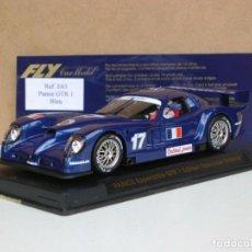 Slot Cars: FLY E-63 PANOZ GTR 1 BLEU EDICION ESPECIAL FRANCIA. Lote 237277725