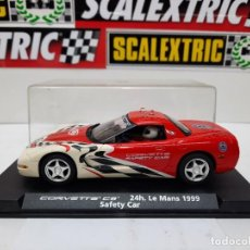 Slot Cars: CORVETTE C5 ( SAFETY CAR ) CON LUCES 24H LE MANS 1999 FLY SCALEXTRIC !!. Lote 237321255