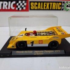 Slot Cars: PORSCHE 917/10 CHAMPION 1972 ( LEO KINNUNEN) FLY SCALEXTRIC !!. Lote 237323460