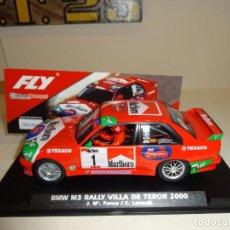 Slot Cars: FLY. BMW M3 RALLY VILLA DE TEROR 2000. J.M.PONCE-C.LARRODÉ. MARLBORO. REF. A2022. Lote 238023720