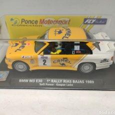 Slot Cars: FLY BMW M3 E30 EDICIÓN ESPECIAL R. RIAS BAJAS 1989 REF. 99062. Lote 238604675