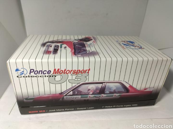 Slot Cars: FLY BMW M3 E30 RALLYE EL CORTE INGLES 1995 PONCE MOTORPORT COL.03 REF. 99071 - Foto 5 - 238680785