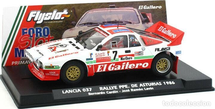 FLY SLOT 1/32 LANCIA 037 RALLY PRÍNCIPE DE ASTURIAS Nº 7 - 1986 B CARDÍN - EL GAITERO COMPETICIÓN (Juguetes - Slot Cars - Fly)