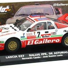 Slot Cars: FLY SLOT 1/32 LANCIA 037 RALLY PRÍNCIPE DE ASTURIAS Nº 7 - 1986 B CARDÍN - EL GAITERO COMPETICIÓN. Lote 243140950