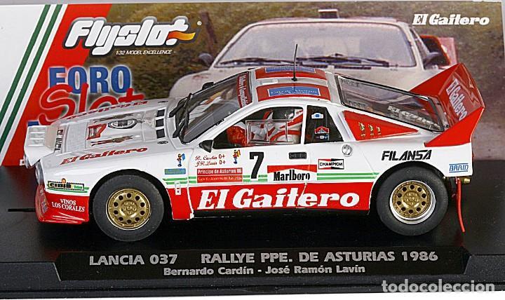 Slot Cars: FLY SLOT 1/32 LANCIA 037 RALLY PRÍNCIPE DE ASTURIAS Nº 7 - 1986 B CARDÍN - EL GAITERO COMPETICIÓN - Foto 2 - 243140950