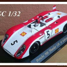 Slot Cars: FLY SLOT CLASSIC C48 PORSCHE 908 FLUNDER LH Nº5 - 6º ZELTWEG 1969 / FABRICADO EN ESPAÑA. Lote 121023399