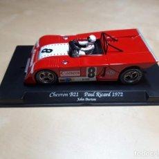 Slot Cars: CHEVRON B 21 PAUL RICARD 1972 COMO NUEVO EN SU CAJA ORIGINAL. Lote 243968195