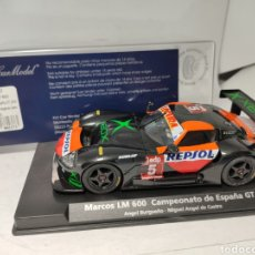 Slot Cars: FLY MARCOS LM 600 CAMPEONATO ESPAÑA GT 2004 REF. 88137. Lote 244175535