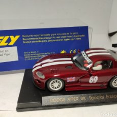Slot Cars: FLY DODGE VIPER UK SPECIAL EDITION RED REF. E4. Lote 244414400