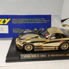 Slot Cars: FLY VIPER GTS R ORO 2°ANIVERSARIO FLY REF. E7. Lote 244418905