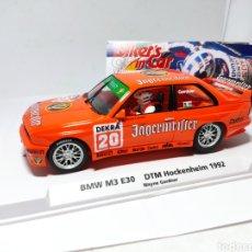 Slot Cars: FLY BMW M3 E30 DTM 1992 BIKER'S IN CAR 01 WAYNE GARDNER REF. 99067. Lote 248203775