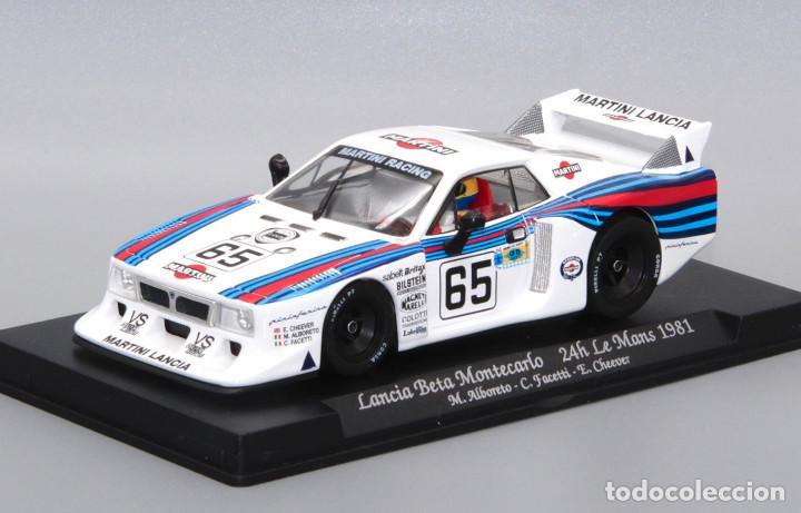 Slot Cars: Lancia Beta Montecarlo Martini (GB Track by Fly) completa el set Le Mans 1981 - Foto 2 - 251484895
