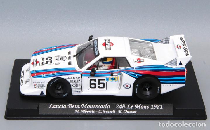 Slot Cars: Lancia Beta Montecarlo Martini (GB Track by Fly) completa el set Le Mans 1981 - Foto 6 - 251484895
