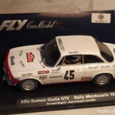 Slot Cars: ALFA ROMEO GIULIA GTV MONTECARLO 1976 DE FLY CAR MODEL. Lote 254043775