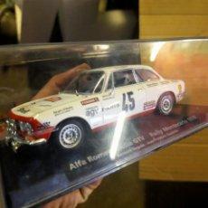 Slot Cars: ANTIGUO COCHE SCALEXTRIC ALFA ROMEO GIULIA GTV SLOT SCALEXTRIC - SCX - RALLY MONTECARLOS 1976. Lote 256084995